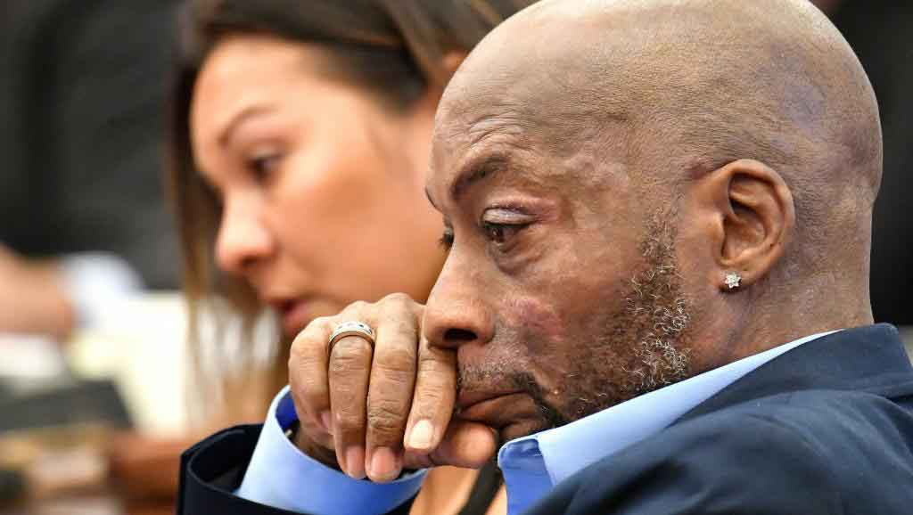 DeWayne Johnson listens during the Monsanto trial in San Francisco last month