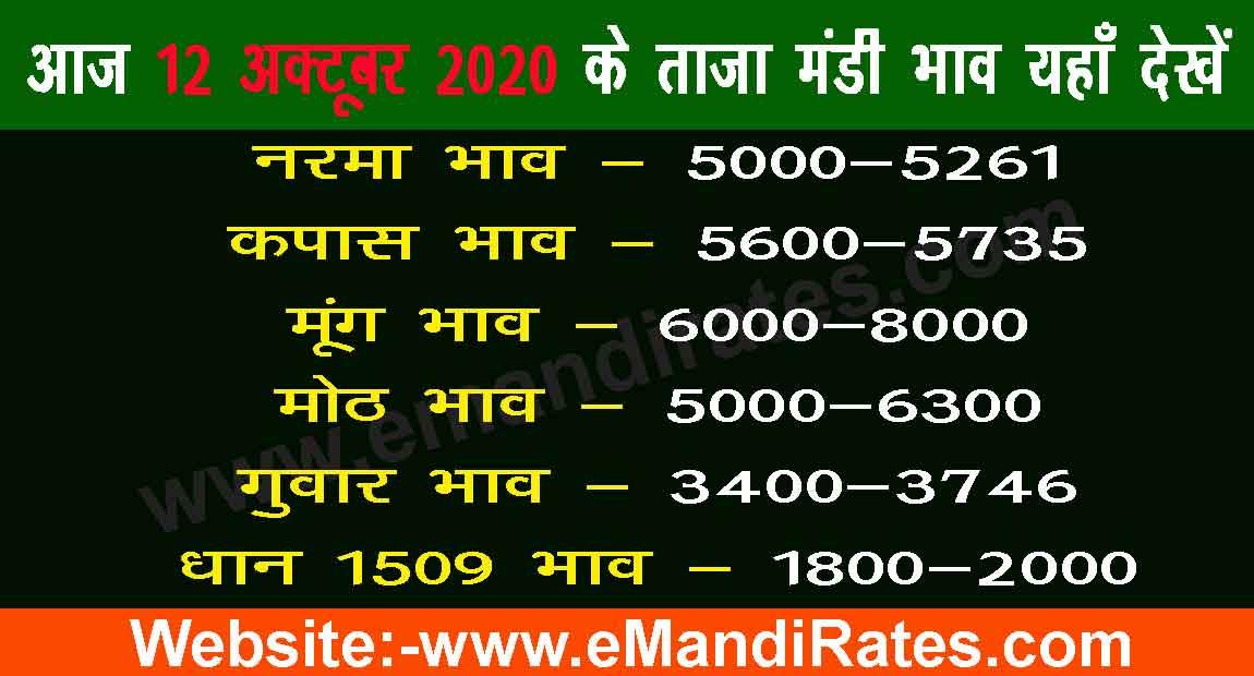 Mandi Bhav Today 12-10-2020