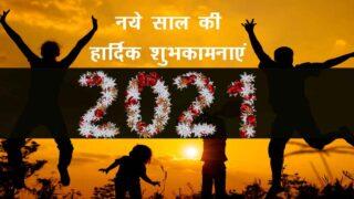नये साल की हार्दिक शुभकामनायें 2021